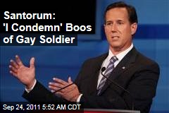 Rick Santorum Condemns Booing of Gay Soldier During Debate, Says He Didn't Hear Them