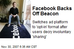 Facebook Backs Off Beacon
