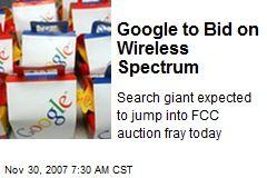 Google to Bid on Wireless Spectrum
