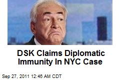 DSK Claims Diplomatic Immunity In NYC Case