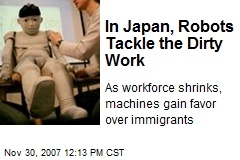 In Japan, Robots Tackle the Dirty Work