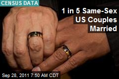 1 in 5 Same-Sex US Couples Married