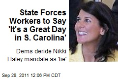 State Mandates Workers Say: 'It's a Great Day in S. Carolina'
