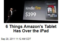 Six Things Amazon's Kindle Fire Tablet Has That the Apple iPad Lacks