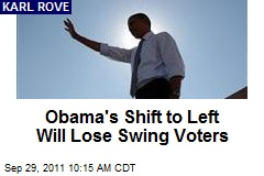 Obama's Shift to Left Will Lose Swing Voters