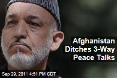 Afghanistan Ditches US-Pakistan Peace Talks After Burhanuddin Rabbani Assassination
