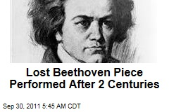 Lost Beethoven String Quartet Performed After 2 Centuries