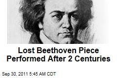 Lost Beethoven String Quartet Performed After 2 Centuries