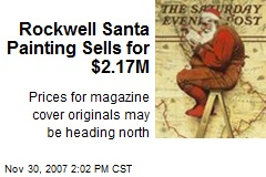Rockwell Santa Painting Sells for $2.17M