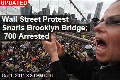 Police Arrest Dozens After Wall Street Protest Chokes Brooklyn Bridge