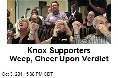 Amanda Knox Supporters Weep, Cheer Upon Verdict in Kercher Slaying