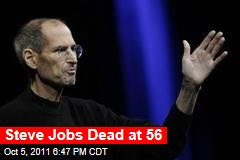 Steve Jobs Dies at 56 of Pancreatic Cancer