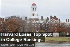 Harvard Loses Top Spot in College Rankings