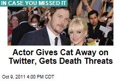 Chris Pratt, Anna Faris Give Cat Away on Twitter; Uproar Ensues