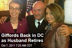 Gabrielle Giffords in Washington for Husband Mark Kelly's Retirement Ceremony