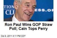 Ron Paul Wins Values Voter Poll; Herman Cain Beats Rick Perry