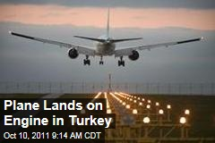 Sky Airlines Boeing Plane Lands on Engine in Turkey