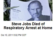 Apple CEO Steve Jobs Died of Respiratory Arrest, Cancer: Death Certificate