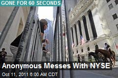 Gone for 60 Seconds: Anonymous Takes Down NYSE