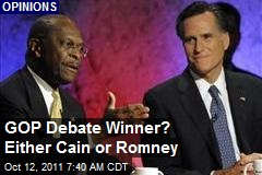 GOP Debate Winner? Either Cain or Romney