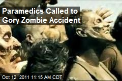 Paramedics Called to Gory Zombie Accident