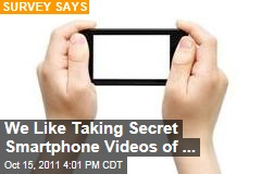 Americans Like Taking Secret Videos on Smartphones: Study