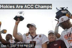 Hokies Are ACC Champs
