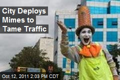 City Deploys Mimes to Tame Traffic