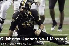 Oklahoma Upends No. 1 Missouri