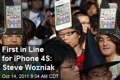 First in Line for iPhone 4S: Steve Wozniak