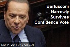 Berlusconi Narrowly Survives Confidence Vote