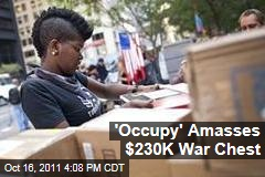 'Occupy Wall Street' Amasses $230K War Chest, Overwhelmed by Supplies