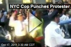 NYC Cop Punches Protester