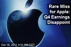 Rare Miss for Apple: 4Q Earnings Disappoint