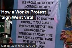 How a Wonky Protest Sign Went Viral