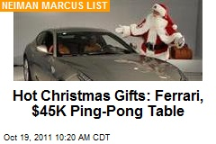 Hot Christmas Gifts: Ferrari, $45K Ping-Pong Table