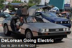 DeLorean Going Electric