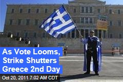 Greece Bailout: Parliament Likely to Pass Austerity Measures as Strike Paralyzes Country a Second Day
