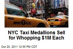 NYC Taxi Medallions Sell for Whopping $1M Each