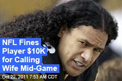 NFL Fines Troy Polamalu $10,000 for Calling His Wife During Game to Let Her Know He Was OK