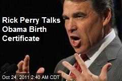 Rick Perry Tips Hat to Birthers