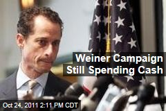 Anthony Weiner Campaign Still Spending Cash