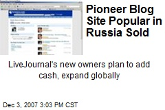 Pioneer Blog Site Popular in Russia Sold