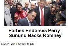 Forbes Endorses Perry; Sununu Backs Romney