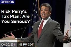 Rick Perry's Flat Tax Plan Looks Dubious: Kevin Drum