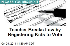 Florida Election Law: Teacher Faces Fines for Helping Kids Register to Vote