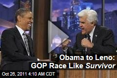 President Obama on The Tonight Show: GOP Race Is Like Survivor