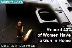 Record 43% of Women Have a Gun in Home