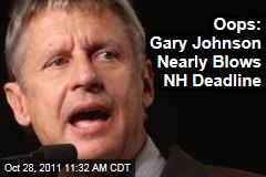 Election 2012: Gary Johnson Takes Red-Eye to File in New Hampshire After Deadline Bungle