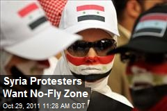 Syria Protesters Want No-Fly Zone